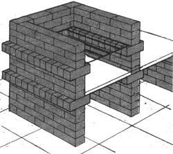 распланированный участок в своем доме, задумываются над тем, как построить барбекю