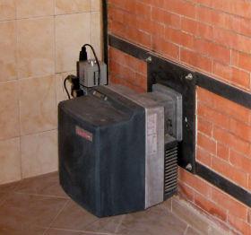 монтаж газовой печи в баню