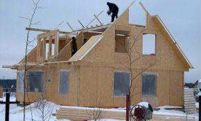 Зимнее строительство загородного дома