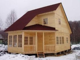 дом после зимнего строительства