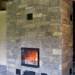 Камин-печь натуральный камень