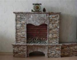 в качестве облицовки для камина используют камень, гранит, мрамор