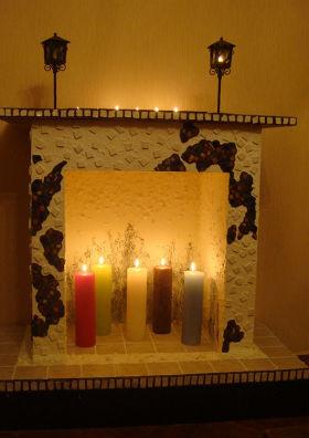 декоративный фальш камин в квартире сделанный своими руками