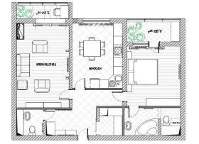 перед началом ремонта в квартире подготовьте схему будущей расстановки мебели