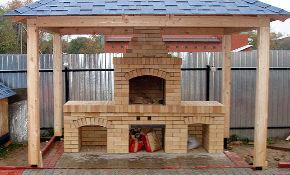 Кирпичная печь с барбекю зимняя беседка с барбекю проекты фото