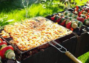 как совместить дымоход печи с барбекю