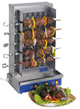 мангал электрический с вертикальным расположением шампуров