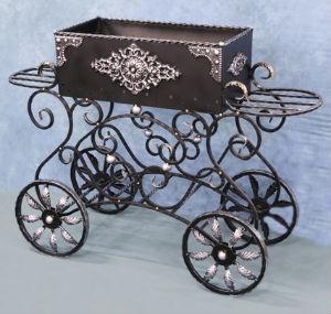 для удобства транспортировки кованый мангал может быть на колесиках