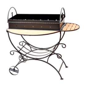 универсальный кованый мангал для дачи или кафе
