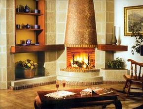 Угловой камин - теплый уголок в Вашем доме