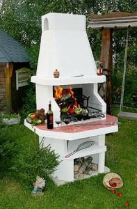 Печь барбекю.. варианты размещения