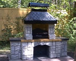 Печка-барбекю из камня.. красиво и многофункционально