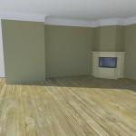 угловой камин в интерьере квартиры