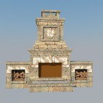 3D проект камина