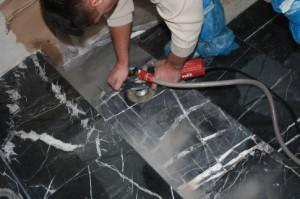 обработка мраморной поверхности