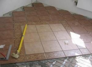 Мраморная плитка процесс укладки