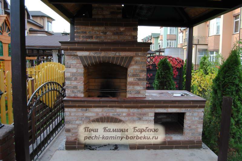 Печи-барбекю с навесом купить дровяной камин в ростове на дону
