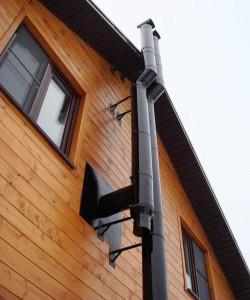 Эмалированный стальной дымоход наружного расположения