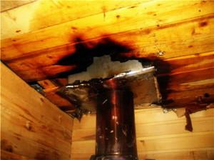 Неправильный монтаж дымохода может привести к пожару
