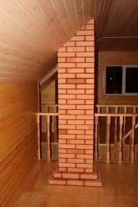 Проход дымохода через второй этаж