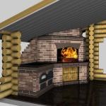 3D проект барбекю с мангалом и казаном